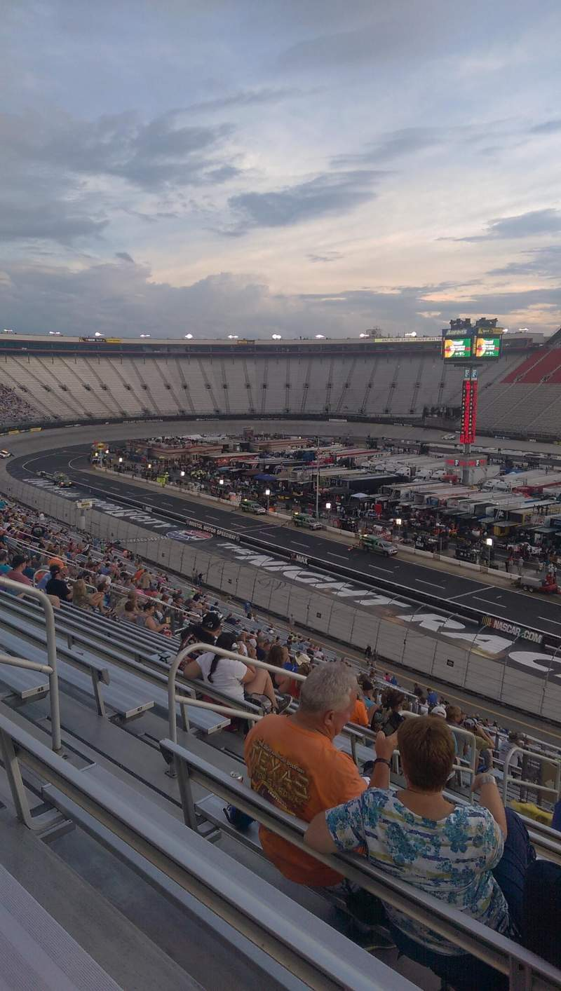 Seating view for Bristol Motor Speedway Section Pearson kj Row 51 Seat 8