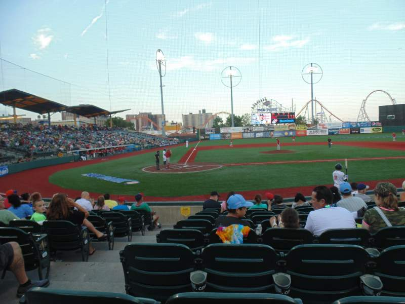 Seating view for MCU Park Section 8 Row K Seat 2