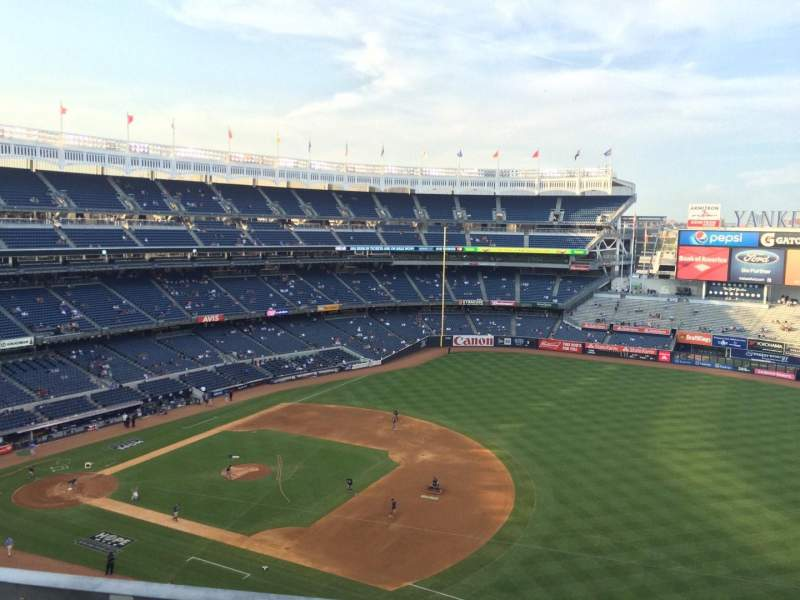 Seating view for Yankee Stadium Section 412 Row 9 Seat 15