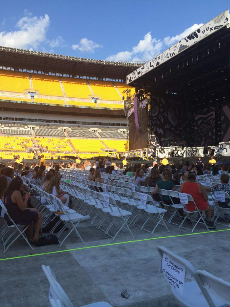 Seating view for Heinz Field Section F6 Row 22 Seat 5