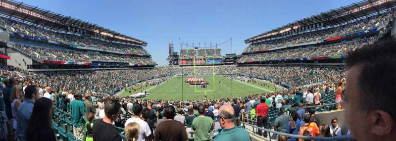 Seating view for Lincoln Financial Field Section 110 Row 36 Seat 2