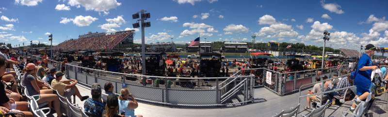 Seating view for Watkins Glen International Section 6 Row 4 Seat 3
