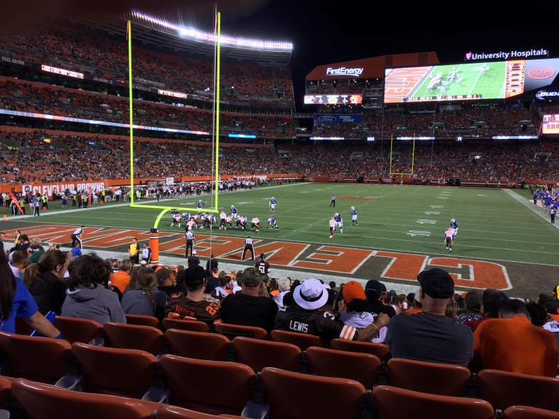 Seating view for FirstEnergy Stadium Section 148 Row 18 Seat 19