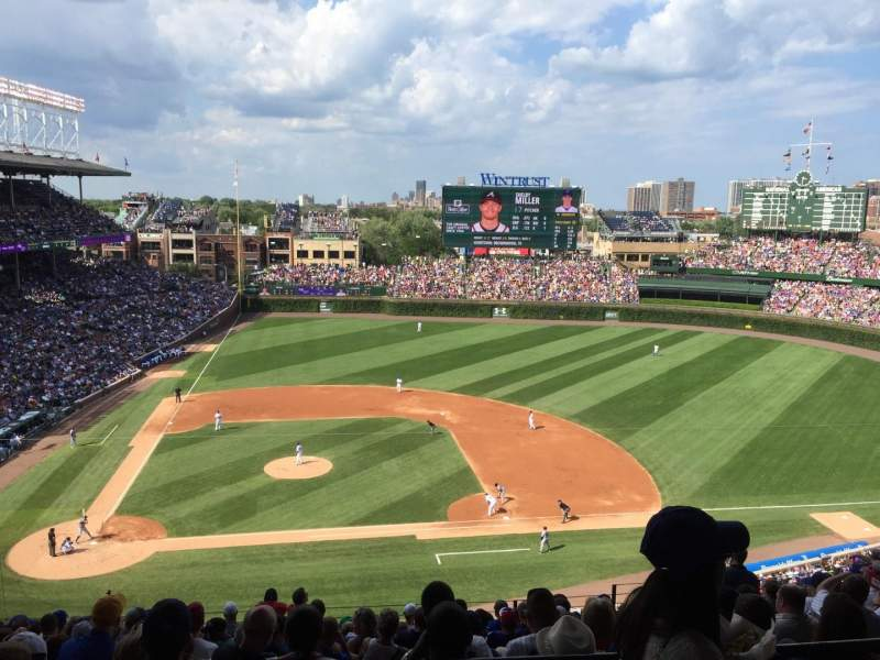 Seating view for Wrigley Field Section 527 Row 1 Seat 8
