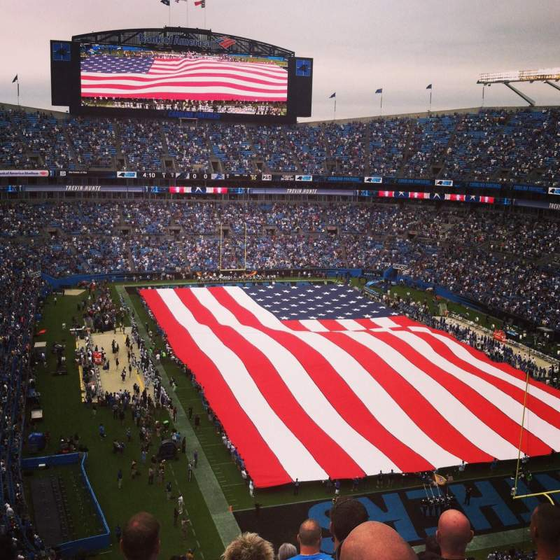 Seating view for Bank of America Stadium Section 531 Row 9 Seat 18
