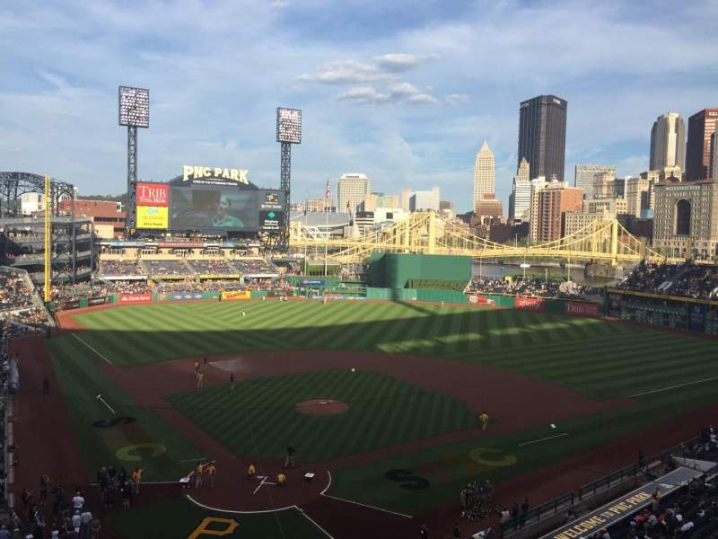 Seating view for PNC Park Section 214 Row A Seat 3