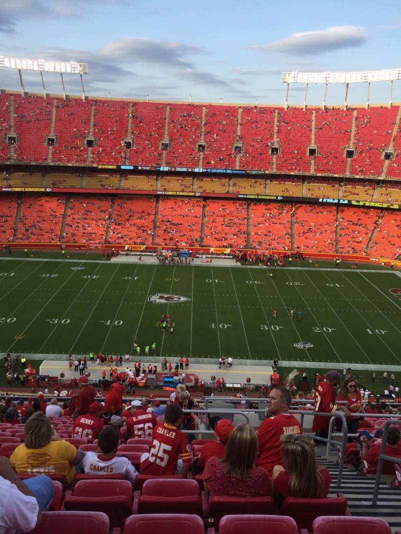 Seating view for Arrowhead Stadium Section 301 Row 24