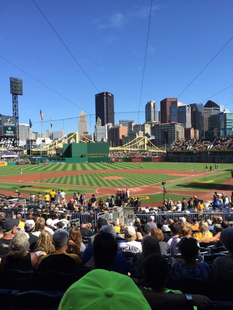 Seating view for PNC Park Section 117 Row P Seat 11