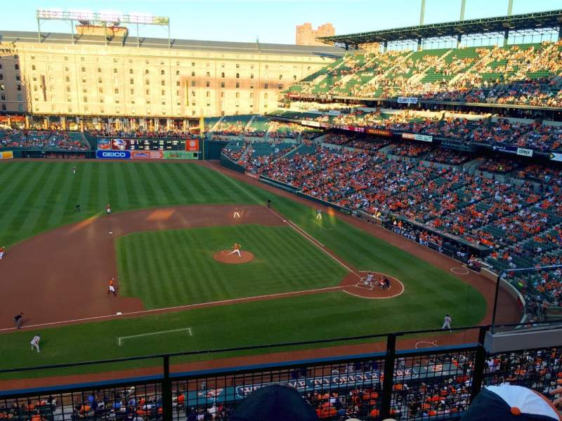 Seating view for Oriole Park at Camden Yards Section 354 Row 3 Seat 4