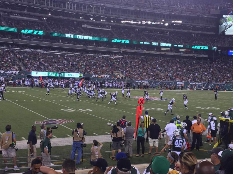 Seating view for MetLife Stadium Section 116 Row 7 Seat 1