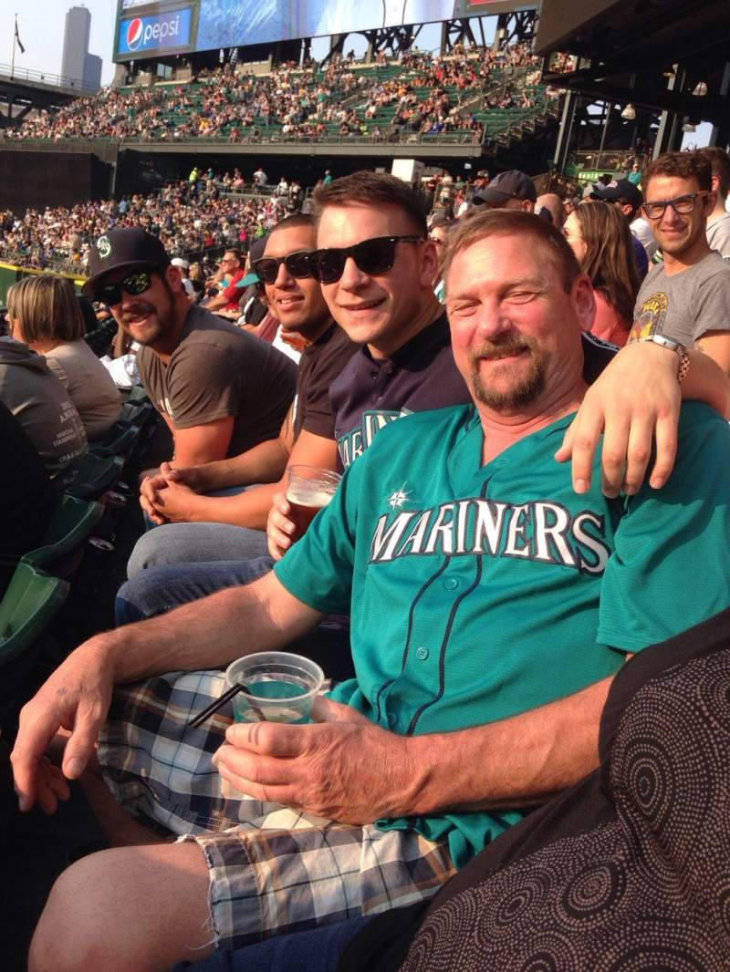 Seating view for Safeco Field Section 108 Row 25 Seat 9-16