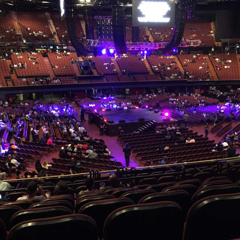 Seating view for The Forum Section 126 Row 12 Seat 7
