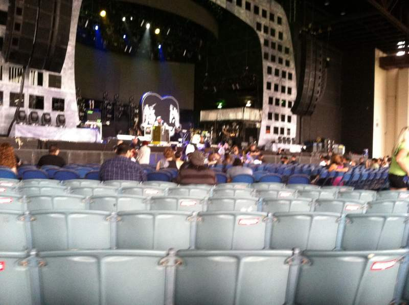 Seating view for Starplex Pavilion Section 102 Row P Seat 9