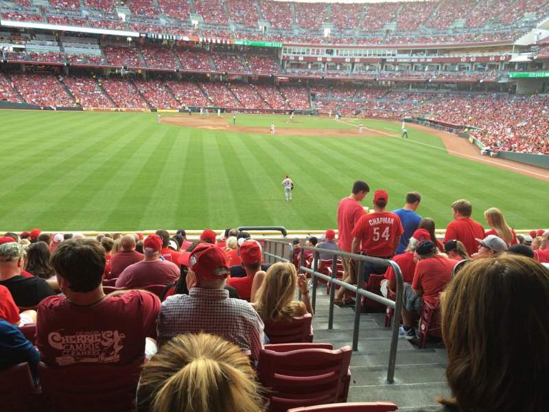 Seating view for Great American Ball Park Section 103 Row N Seat 2