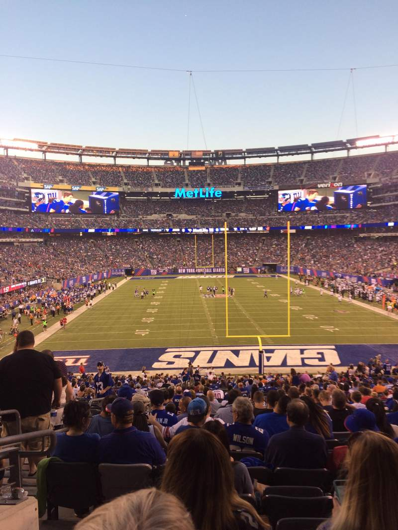 Metlife Stadium Section 101 Home Of New York Jets New