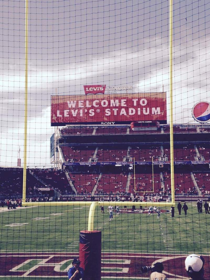 Seating view for Levi's Stadium Section 127 Row 5 Seat 8
