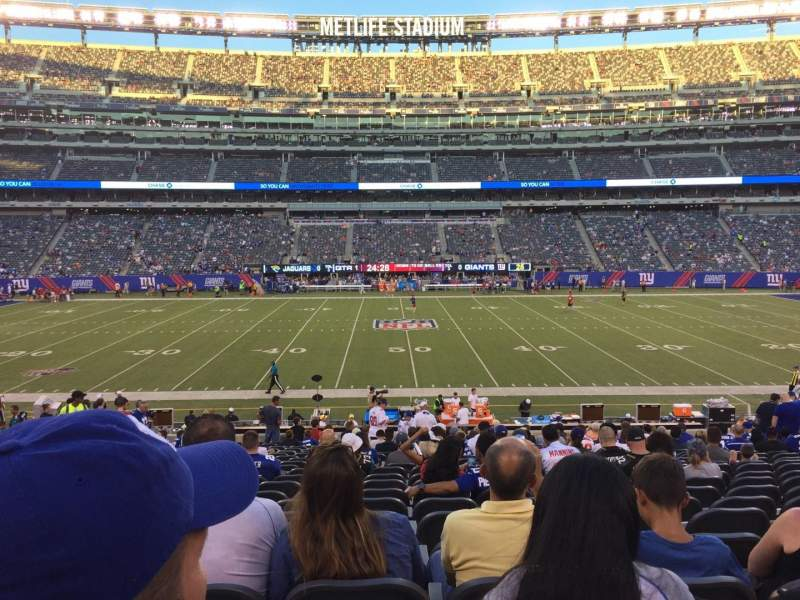 Seating view for MetLife Stadium Section 139 Row 28 Seat 16