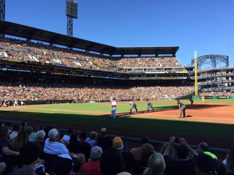 Seating view for PNC Park Section 8 Row G Seat 8