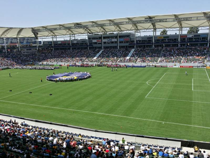 Seating view for StubHub Center Section 228 Row BB Seat 8,9