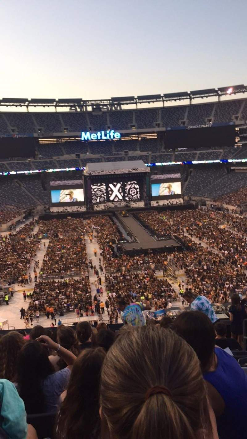 Seating view for MetLife Stadium Section 228A Row 10 Seat 4