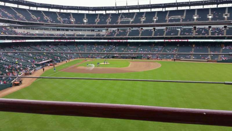 Seating view for Globe Life Park in Arlington Section 248 Row 1 Seat 20