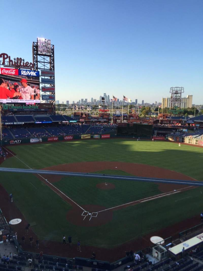 Citizens Bank Park, section: 320, row: 1, seat: 1