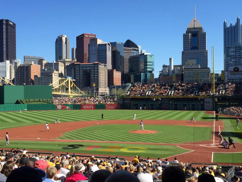 Seating view for PNC Park Section 119 Row W Seat 30