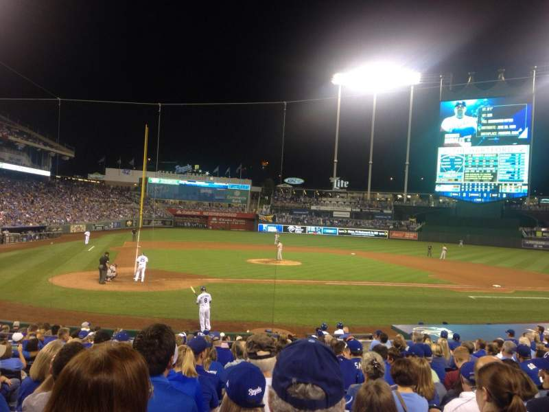 Seating view for Kauffman Stadium Section 131 Row S