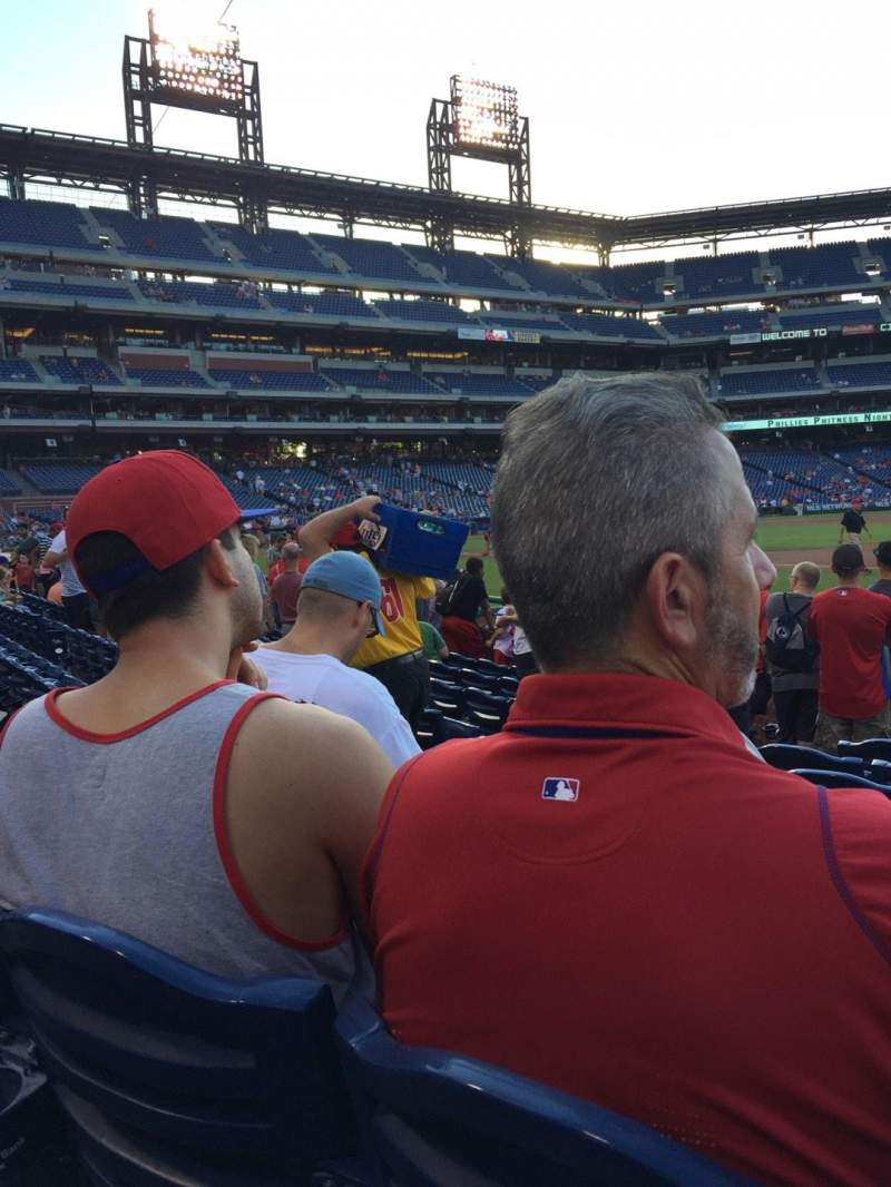 Seating view for Citizens Bank Park Section 113 Row 9 Seat 8
