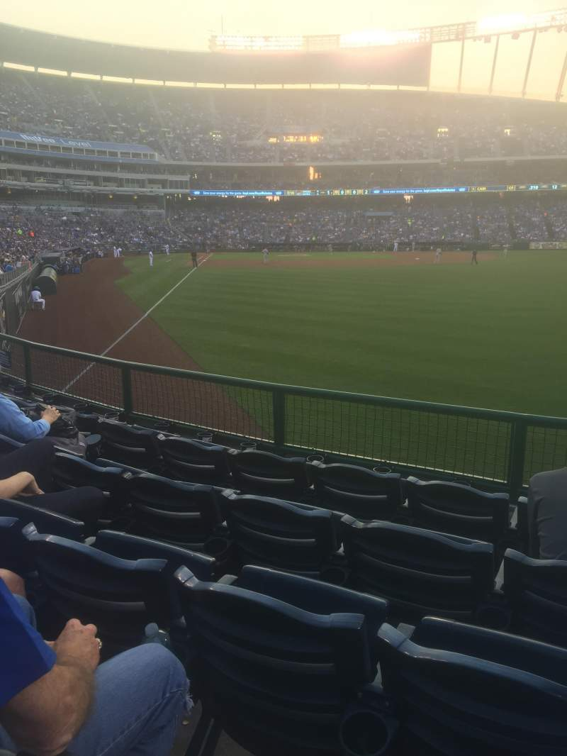 Seating view for Kauffman Stadium Section 148 Row N Seat 13