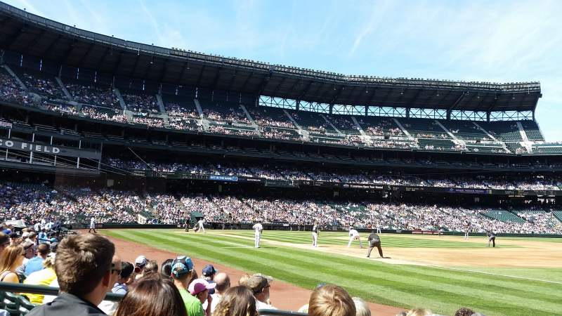 Seating view for Safeco Field Section 117 Row 6 Seat 12