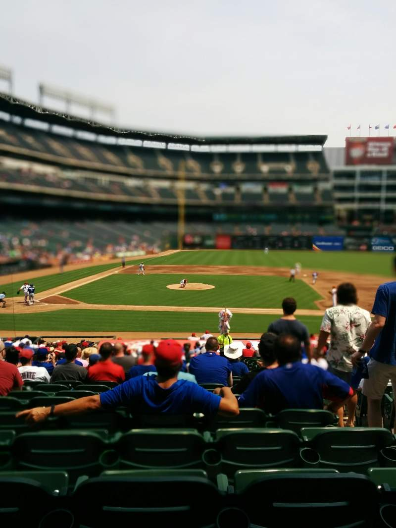 Seating view for Globe Life Park in Arlington Section 33 Row 26 Seat 15