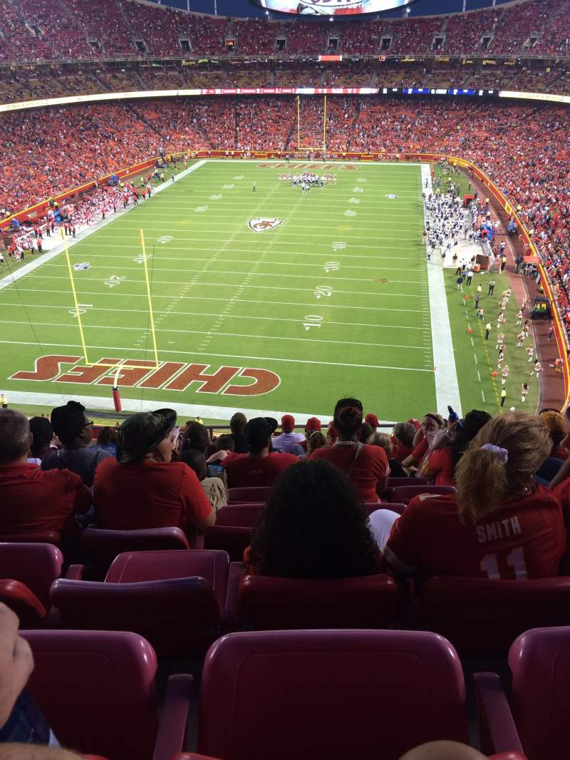 Seating view for Arrowhead Stadium Section 311 Row 10 Seat 15