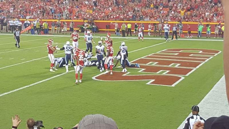 Seating view for Arrowhead Stadium Section 114 Row 11 Seat 10