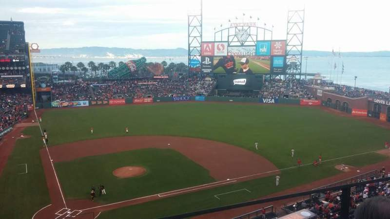 Seating view for AT&T Park Section VB 311 Row B Seat 15