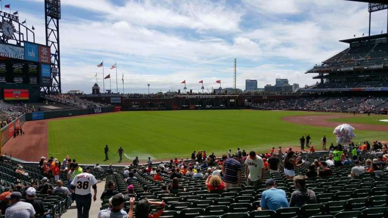 Seating view for AT&T Park Section 131 Row 34 Seat 16
