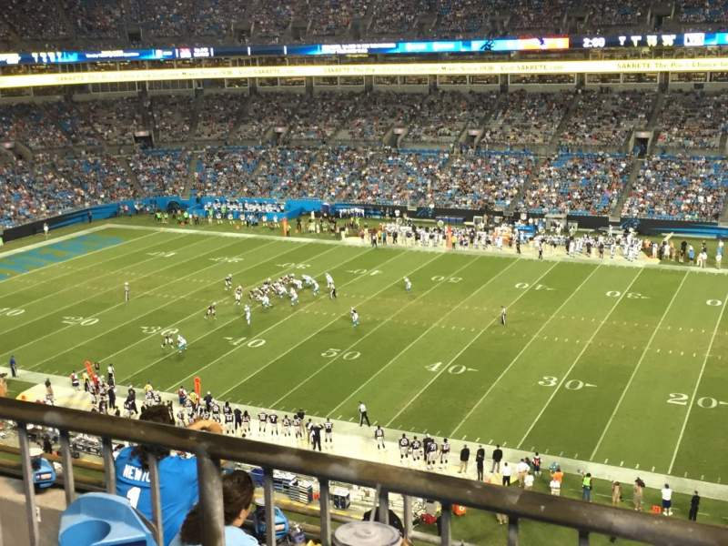 Seating view for Bank of America Stadium Section 512 Row 1 Seat 13