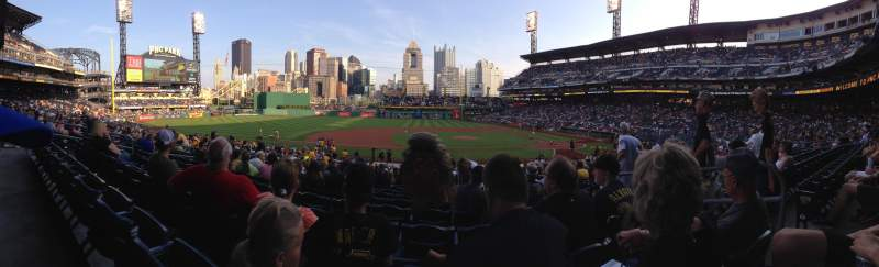 Seating view for PNC Park Section 123 Row T Seat 3
