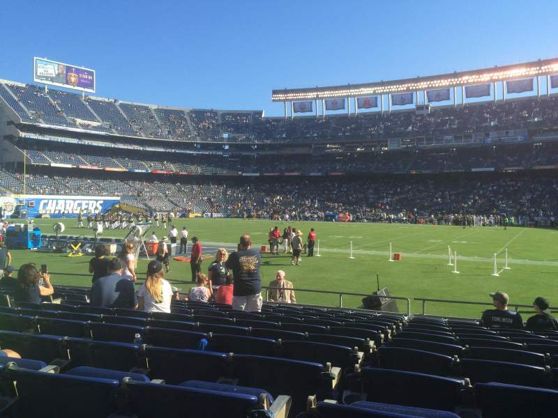 Seating view for Qualcomm Stadium Section V9 Row 12 Seat 11
