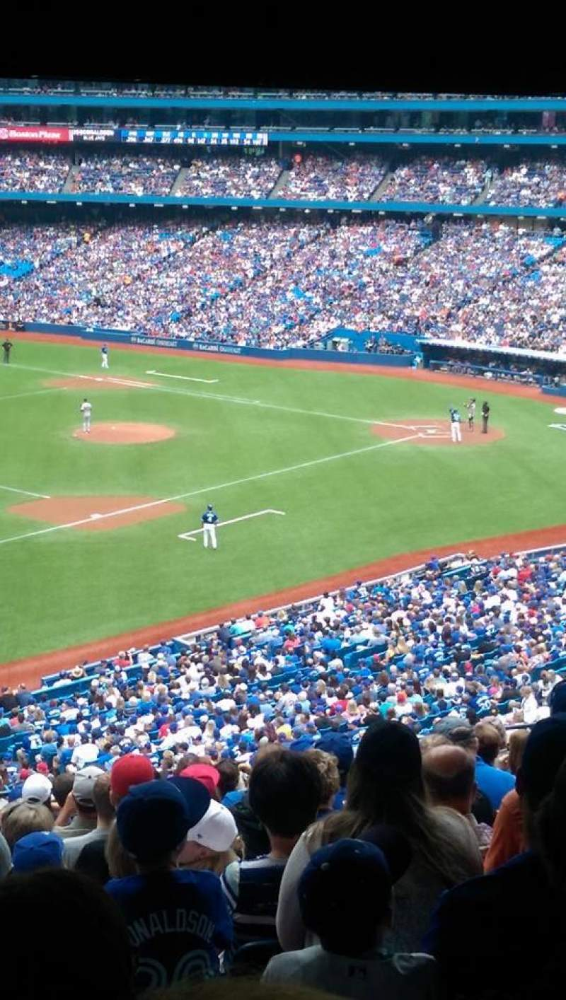 Seating view for Rogers Centre Section 234R Row 13 Seat 1