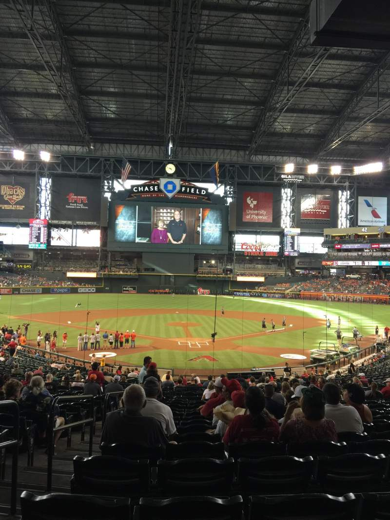Seating view for Chase Field Section 122 Row 37 Seat 19