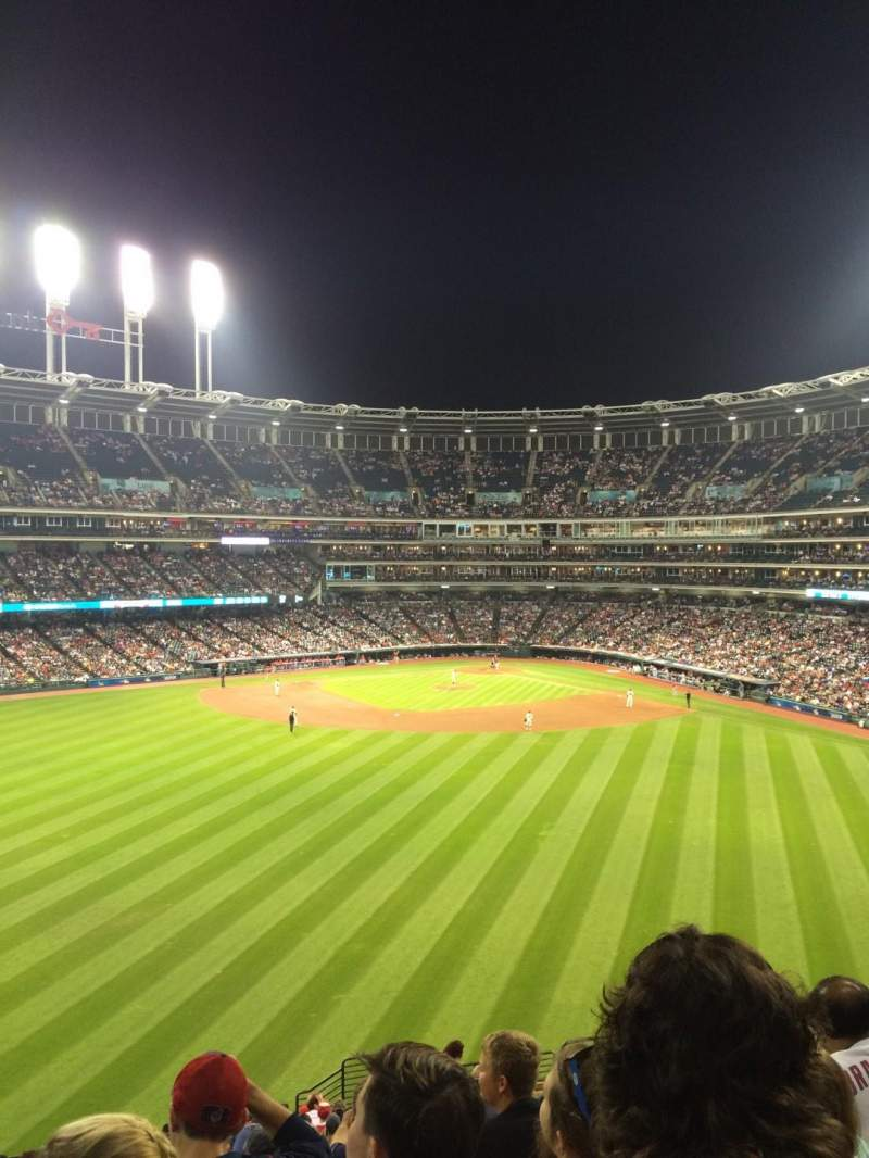 Seating view for Progressive Field Section 184 Row V Seat 13