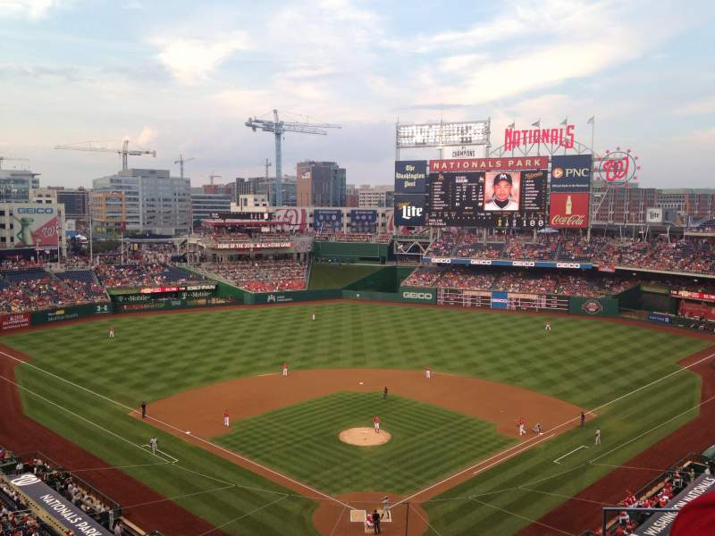 Seating view for Nationals Park Section 313 Row D Seat 3
