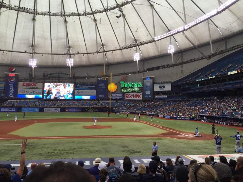 Seating view for Tropicana Field Section 113 Row V Seat 7