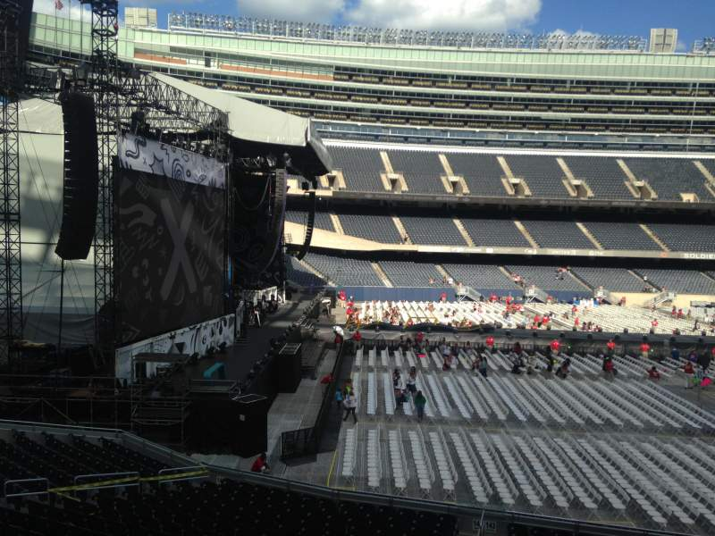 Seating view for soldier field Section 243 Row 2 Seat 13
