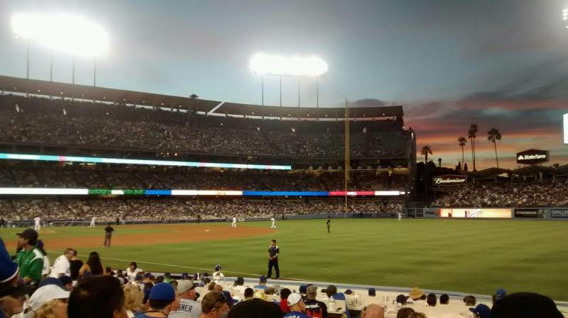Seating view for Dodger Stadium Section 42FD Row J Seat 5
