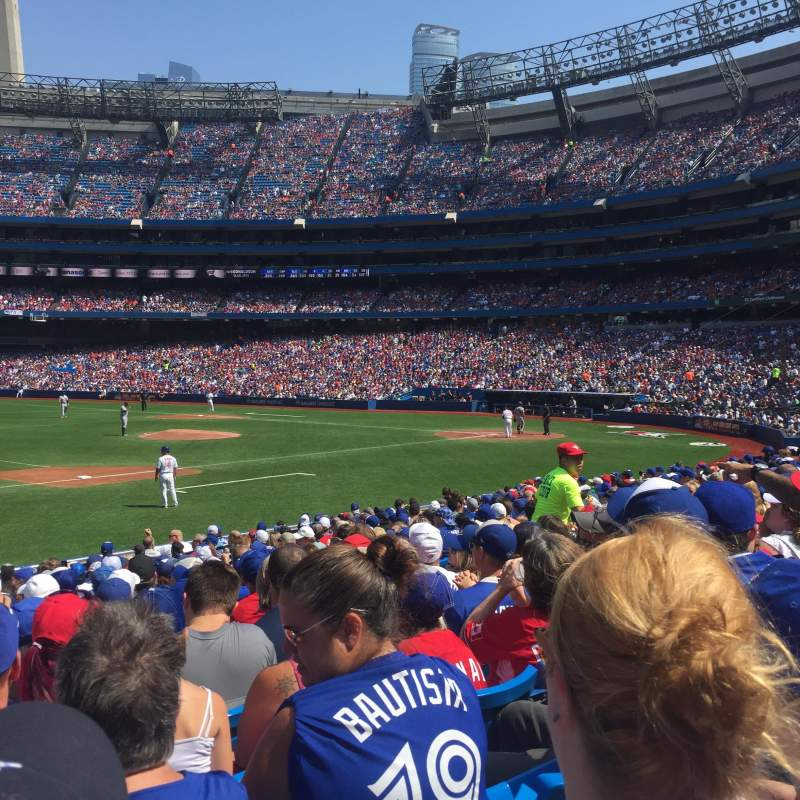 Seating view for Rogers Centre Section 129R Row 18 Seat 12