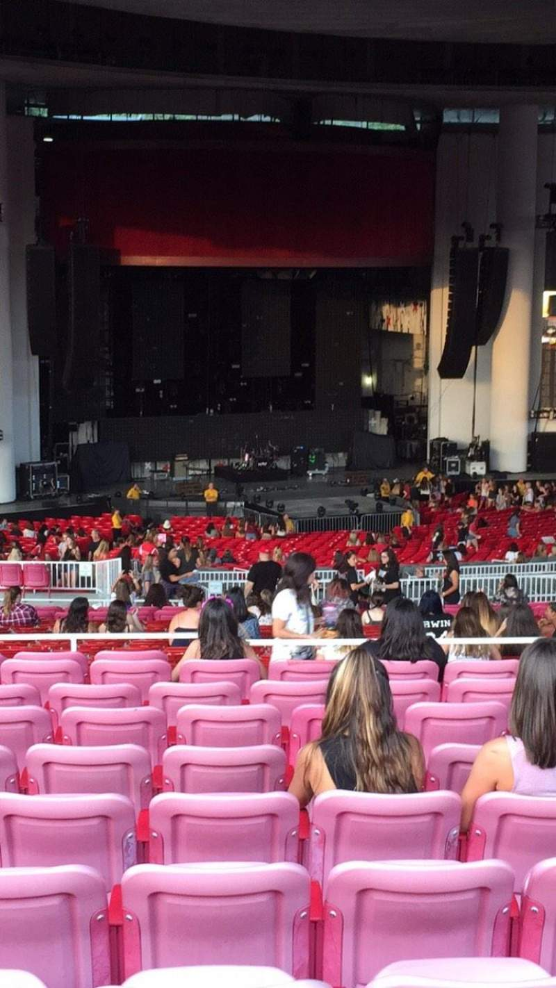 Seating view for PNC Bank Arts Center Section 404 Row Q