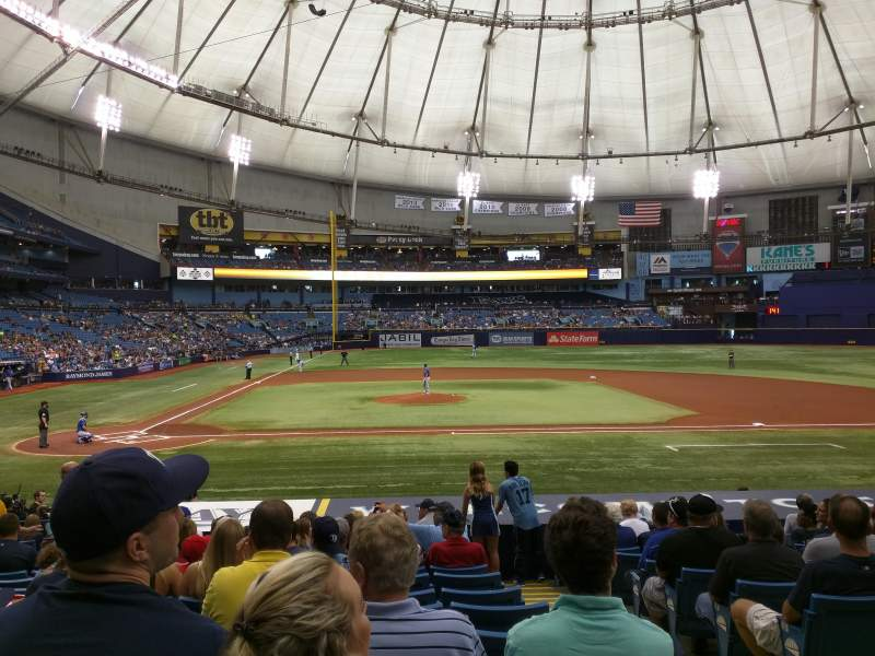 Seating view for Tropicana Field Section 112 Row x Seat 10