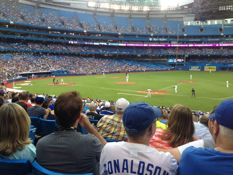 Seating view for Rogers Centre Section 115R Row 33 Seat 4
